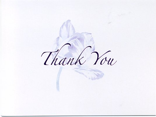 Writing a thank you note for a gourmet dinner invitation mickey 136 55 x 425 shadowed tulip box of 8 stopboris Images