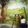 photo of kids mural