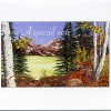 picture painted of Colorado scenery on greeting card