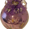 photo of crocus hand painted on glass ornament.