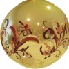 photo of ornament with hand painted Rosemaling.