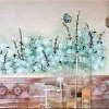 photo of hand painted flowers in a master bath